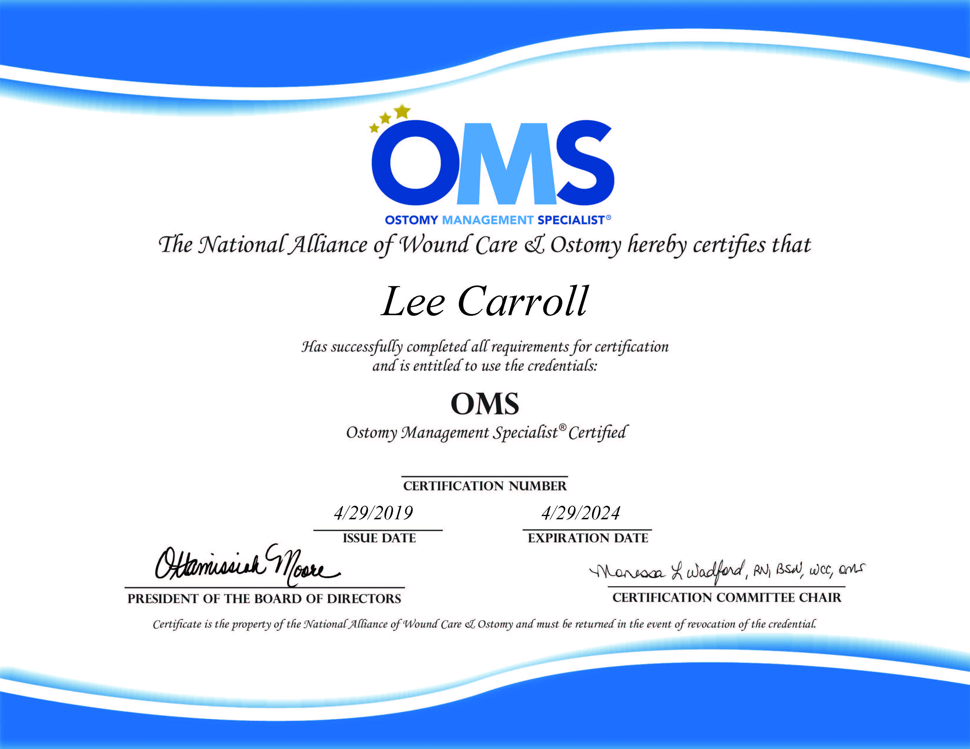 Commonwealth Care Of Roanoke Ostomy Management Specialist Certification Ccr Inc